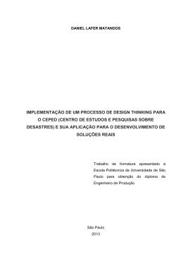 implementação de um processo de design thinking para o ceped