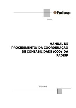 Coordenação de Contabilidade - CCO