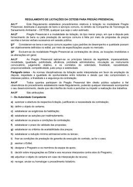 Pregão Presencial - Governo do Estado de São Paulo