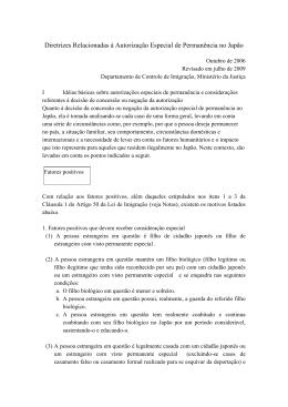 Diretrizes Relacionadas à Autorização Especial de Permanência no