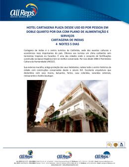 hotel cartagena plaza desde usd 83 por pessoa em doble quarto