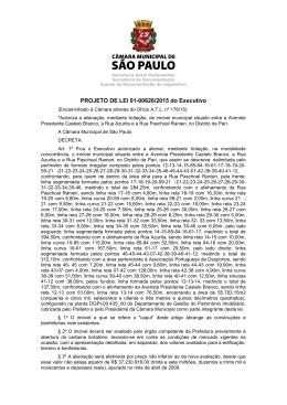 PROJETO DE LEI 01-00626/2015 do Executivo