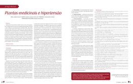 Plantas medicinais e hipertensão