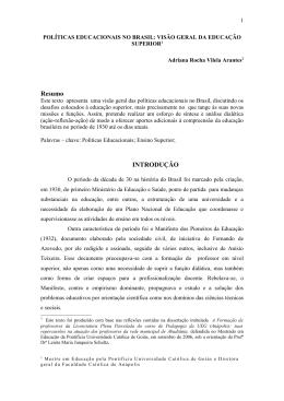 políticas educacionais no brasil