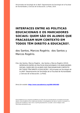 interfaces entre as politicas educacionais e os