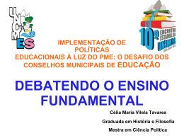 implementação de políticas educacionais à luz do pme