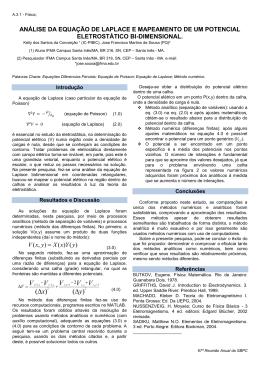 análise da equação de laplace e mapeamento de um potencial
