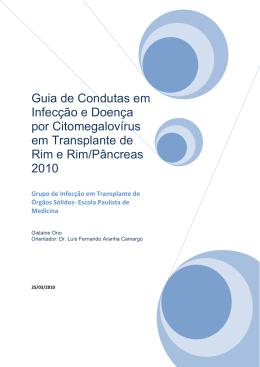 Guia de condutas Citomegalovírus Tardio e Transplante Renal