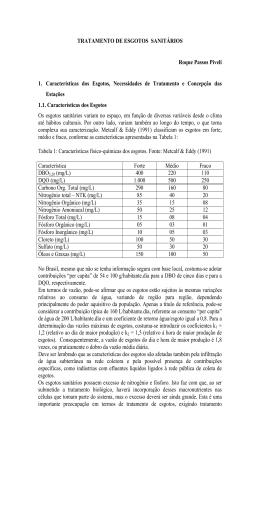 TRATAMENTO DE ESGOTOS SANITÁRIOS Roque Passos Piveli 1
