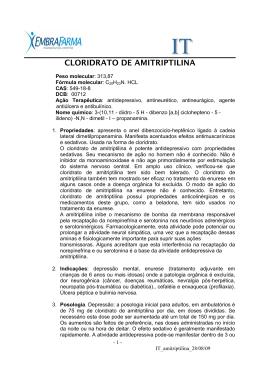 CLORIDRATO DE AMITRIPTILINA
