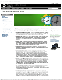 Como obter uma hora a mais por dia | HP Business Answers