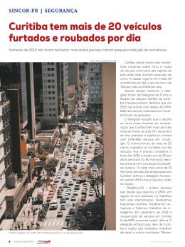 Curitiba tem mais de 20 veículos furtados e roubados por dia