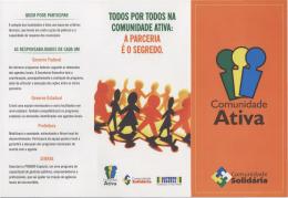 TODOS POR TODOS NA COMUNIDADE ATIVA: APARCERIA