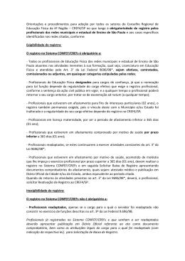 Orientações e procedimentos para adoção por todos os setores do