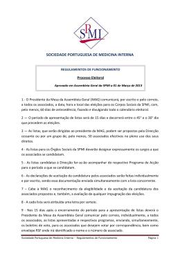 Regulamento de funciomento - Processo Eleitoral