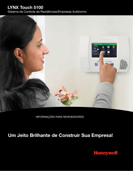 LYNX Touch 5100 Residential Dealer (Portuguese)