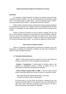 Desenvolvimento estaturoponderal da criança