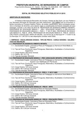 PREFEITURA MUNICIPAL DE BERNARDINO DE CAMPOS