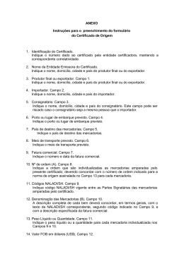 ANEXO Instruções para o preenchimento do formulário do