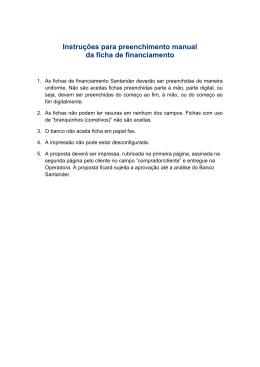 Instruções para preenchimento manual da ficha de