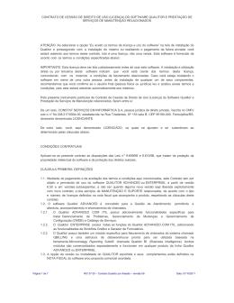 contrato de cessão de direito de uso (licença) do software