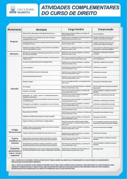 atividades complementares do curso de direito