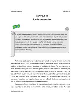 CAPÍTULO XII: Brasília e as Rodovias
