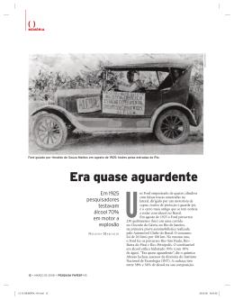 Era quase aguardente - Revista Pesquisa FAPESP