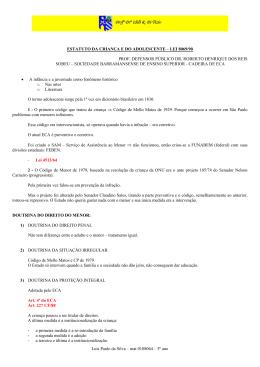 Luis Paulo da Silva – mat 0108064 – 5º ano ESTATUTO DA