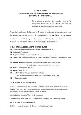 IV Congresso Internacional de Direito Processual
