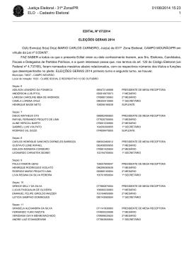 Justiça Eleitoral - 31ª Zona/PR ELO