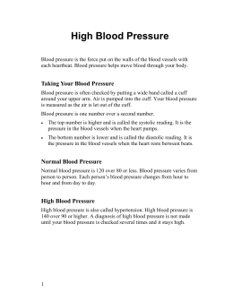 High Blood Pressure - Health Information Translations
