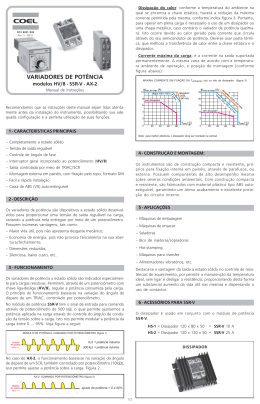 Manual de Instruções HV-8/SSR-V/AX-2 – rev.5