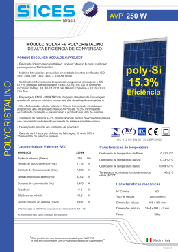 poly-Si 15,3% - SICES Brasil