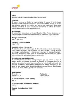 Título Eficientização do Hospital Estadual Adão Pereira Nunes
