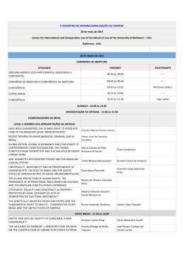 II ENCONTRO DE INTERNACIONALIZAÇÃO DO CONPEDI 28 de