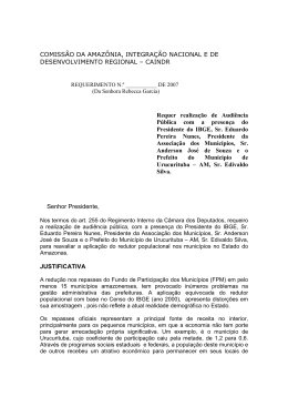 COMISSÃO DA AMAZÔNIA, INTEGRAÇÃO NACIONAL E DE