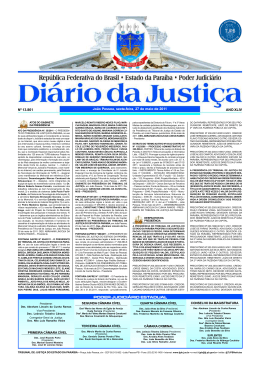 DIÁRIO DA JUSTIÇA 2011 Nº 13.861 João Pessoa, sexta