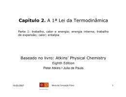 Capítulo 2. A 1ª Lei da Termodinâmica