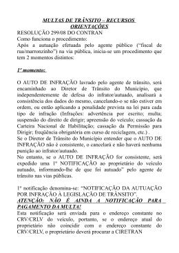 JARI - Instruções para preenchimento de recurso de multas