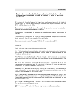 FORMALIZAO DO PROCESSO - CREA-ES