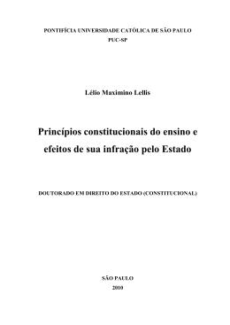 Princípios constitucionais do ensino e efeitos de