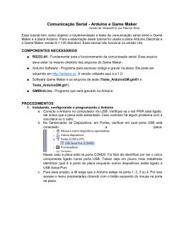 Tutorial Comunicação Arduino e Game Maker