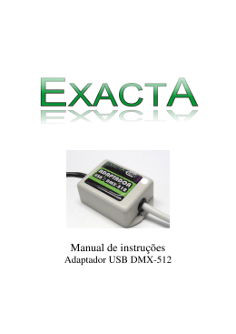 Manual adaptador USB-DMX - Exacta CORTINA / PAINEL LED