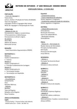 PORTUGUÊS: - Teoria da Linguagem I: Textos Orais. Leitura