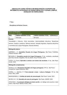 Ementa Integrado - Instituto Federal Goiano