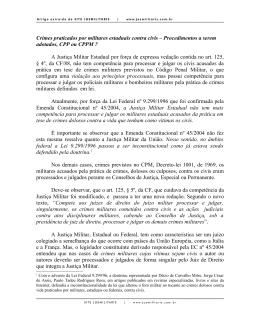 Crimes praticados por militares estaduais contra civis