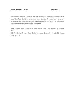 DIREITO PROCESSUAL CIVIL II (80 HORAS