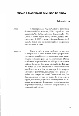 ENSAIO À MANEIRA DE O MUNDO DE FLORA Eduardo Luz de O