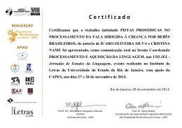 Cristina Name 2 - Pós-graduação em Letras da UERJ